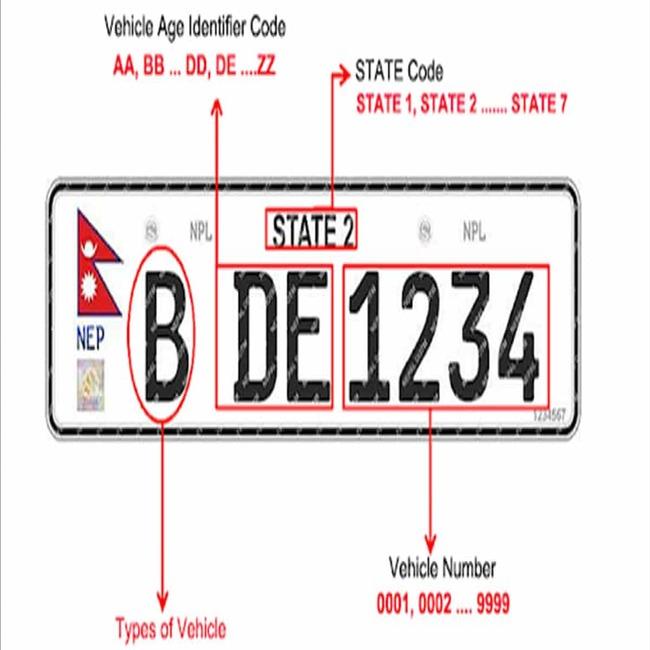 Embossed Number Plate